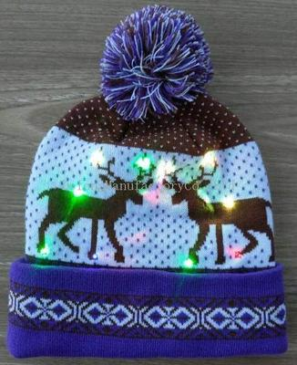 Knitted hat with LED lights